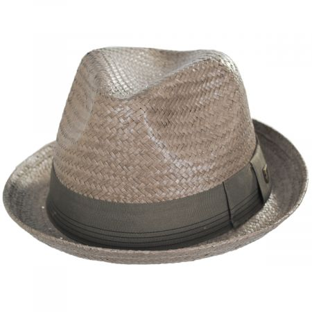 Brixton Hats Castor Taupe Toyo Straw Fedora Hat