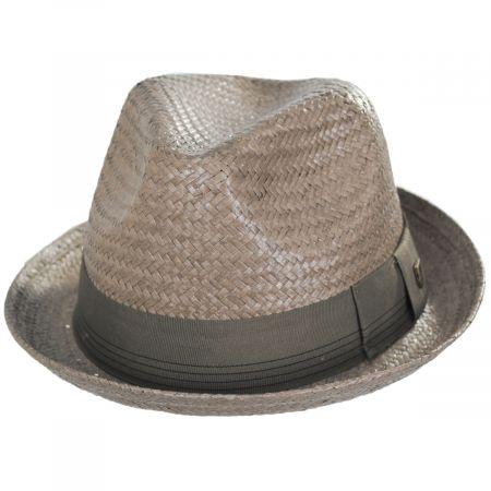 Brixton Hats Castor Taupe Toyo Straw Fedora Hat
