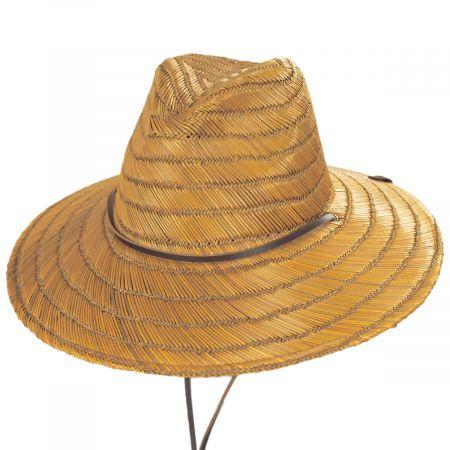 Brixton Hats Bells Copper Straw Lifeguard Hat