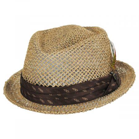 Brixton Hats Stout Light Tan Twisted Toyo Straw Fedora Hat