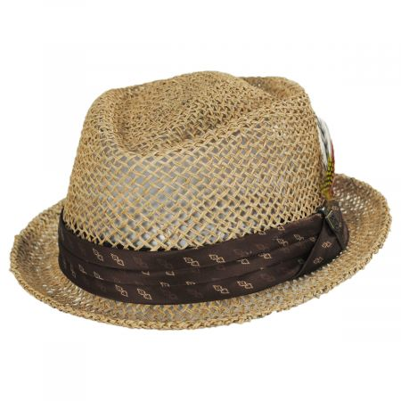 Stout Light Tan Twisted Toyo Straw Fedora Hat alternate view 13