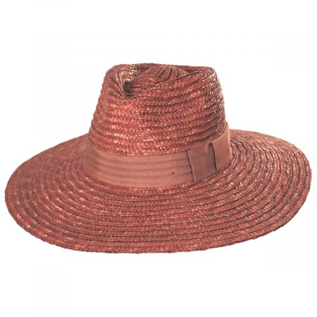 Joanna Terra Cotta Wheat Straw Fedora Hat