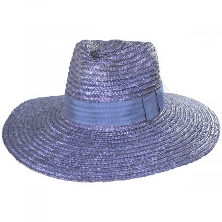 Joanna Light Blue Wheat Straw Fedora Hat alternate view 13