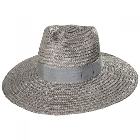 Brixton Hats Joanna Silver Wheat Straw Fedora Hat