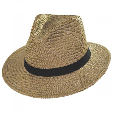 Brixton Hats Lera III Cooper Palm Straw Fedora Hat