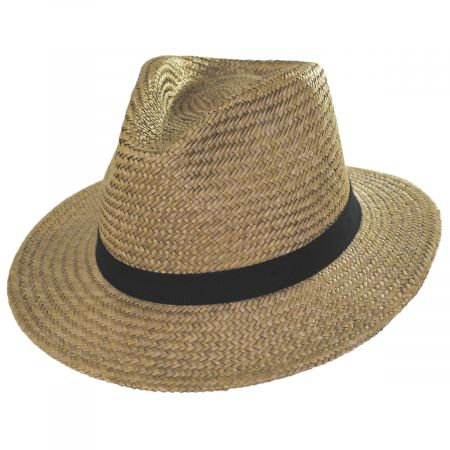 Lera III Cooper Palm Straw Fedora Hat alternate view 13