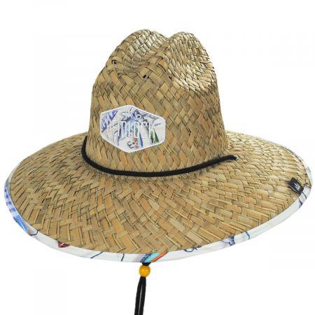 Hemlock Hats Co Cast Away Straw Lifeguard Hat