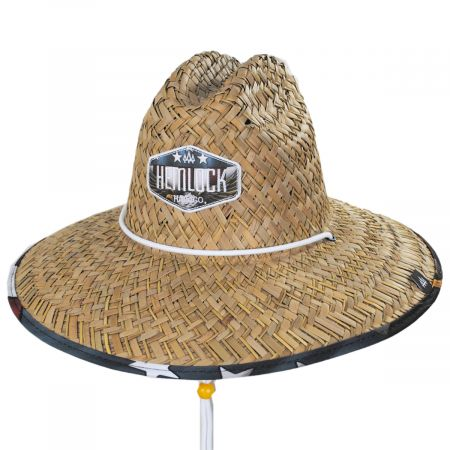 Hemlock Hat Co Revolution Straw Lifeguard Hat