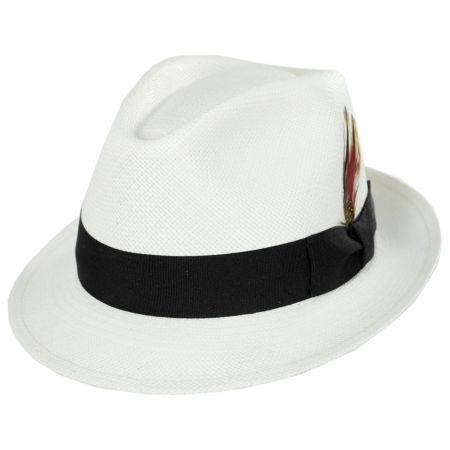 Stefeno Skip Panama Straw Fedora Hat