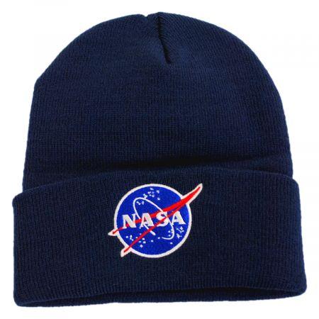 Cuffed NASA Knit Beanie Hat