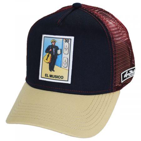 Larry Mahan Hats Loteria El Musico Snapback Trucker Baseball Cap