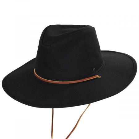 Brixton Hats Ranger Black Cotton Aussie Hat
