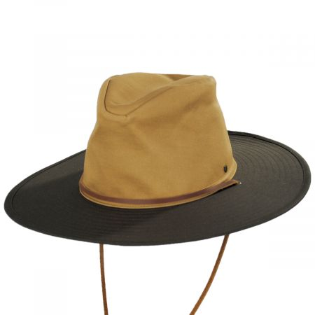 Brixton Hats Ranger Brown/Tan Cotton Aussie Hat