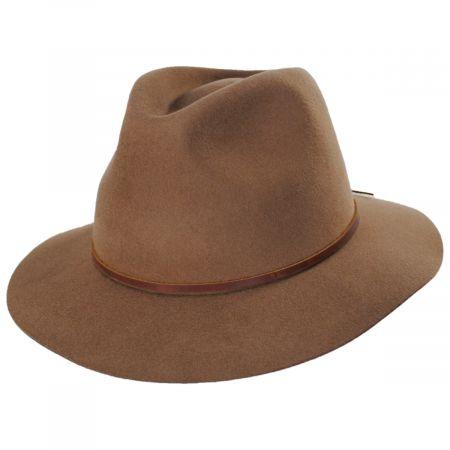 Wesley Coconut Wool Felt Fedora Hat