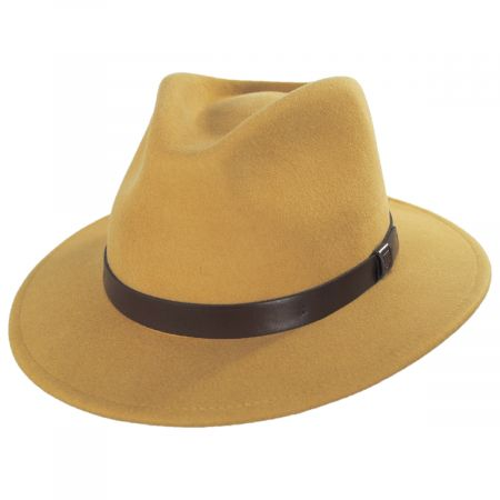 Brixton Hats Messer Honey Wool Felt Fedora Hat
