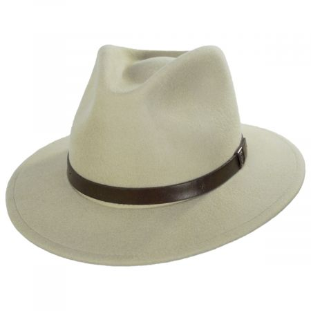 Brixton Hats Messer Putty Wool Felt Fedora Hat
