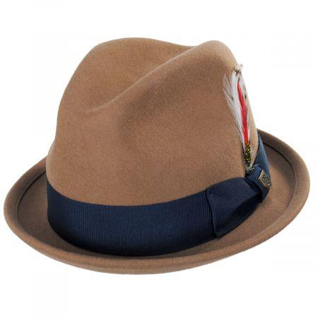 Brixton Hats Gain Coconut Wool Felt Fedora Hat