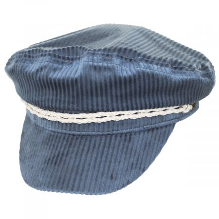 Brixton Hats Ashland Light Blue Corduroy Fiddler Cap