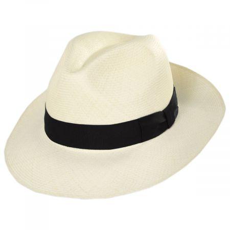 Bigalli Diego Montecristi Fino Grade 20 Panama Straw Fedora Hat