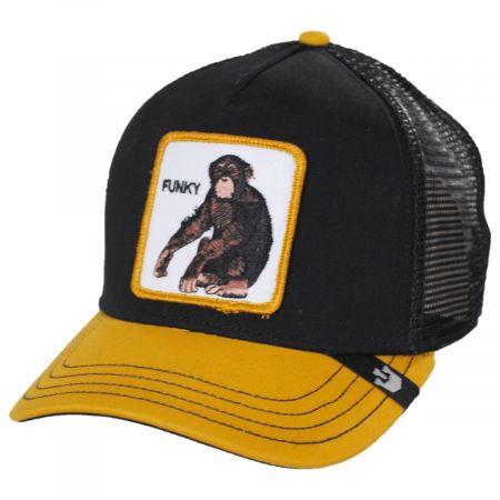 Monkey Mesh Trucker Snapback Baseball Cap