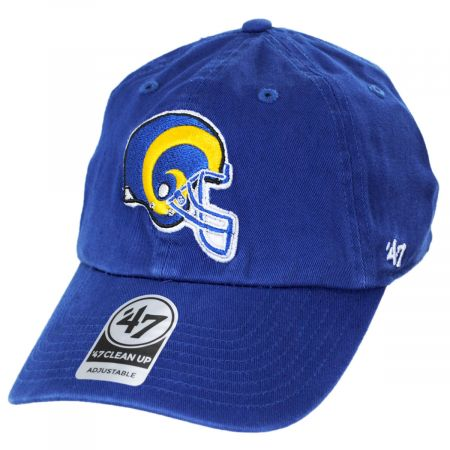 47 Brands Los Angeles Rams NFL Clean Up Strapback Baseball Hat