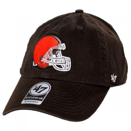 47 Brands Cleveland Browns NFL Clean Up Strapback Baseball Hat