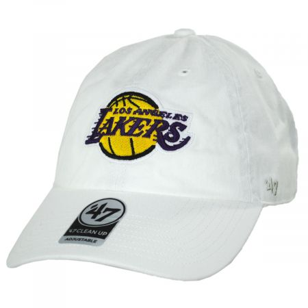 Los Angeles Lakers NBA Clean Up Strapback Baseball Cap Dad Hat alternate view 3
