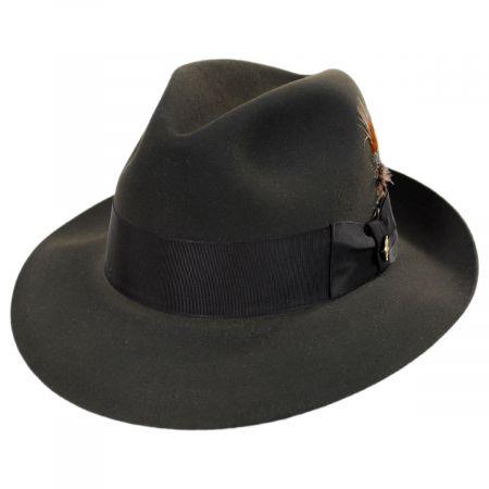 Pinnacle Beaver Fur Felt Fedora Hat alternate view 7