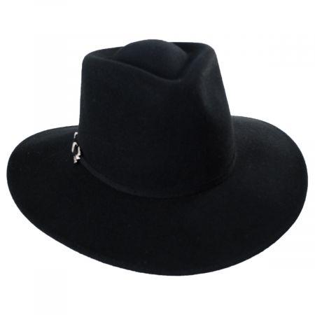 Tear Drop Wool Felt Western Hat