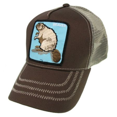 Goorin Bros Animal Farm Beaver Mesh Trucker Snapback Baseball Cap