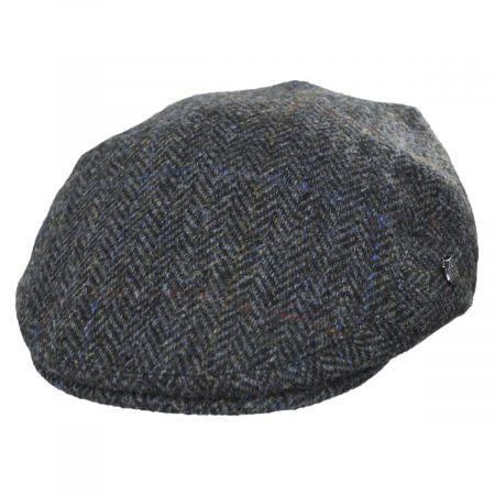 Harris Tweed Overcheck Herringbone Wool Ivy Cap