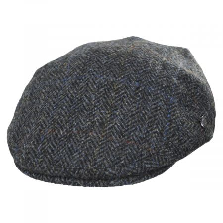 Failsworth Harris Tweed Overcheck Herringbone Wool Ivy Cap