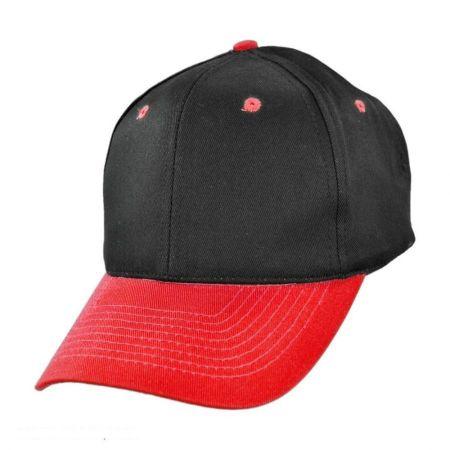 Two-Tone Pro Cotton Twill Snapback Baseball Cap alternate view 3