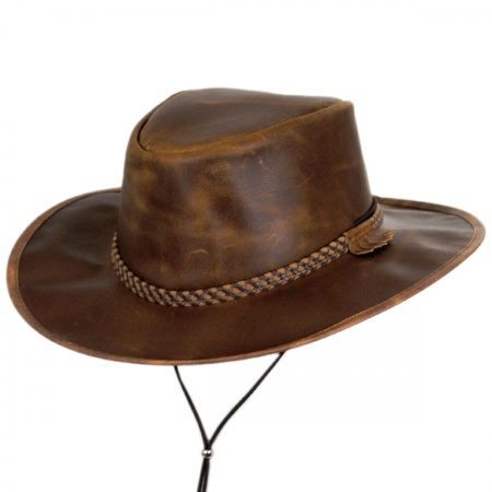 0a721ff03 Crusher Leather Outback Western Hat