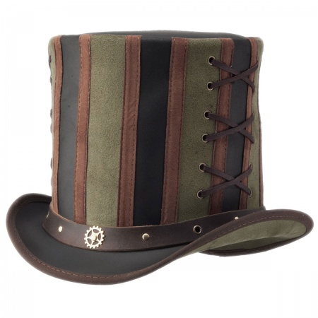 Head 'N Home Absinthe Leather Stove Piper Top Hat