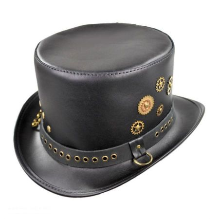 Astro Leather Top Hat