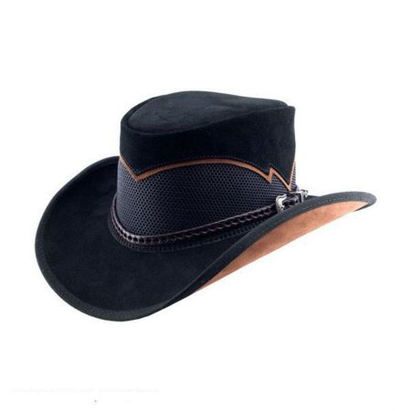Cheyenne Suede and Mesh Western Hat