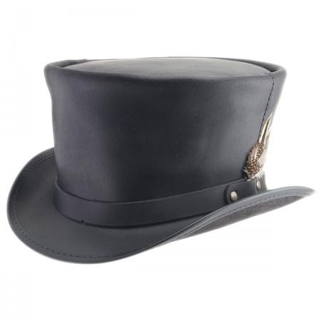 Coachman Black Leather Top Hat 93b7f3dd5b2