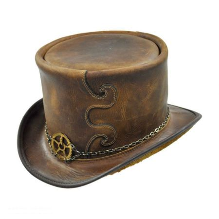 Head 'N Home Curio Leather Top Hat