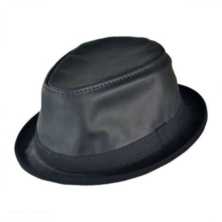 Black Leather Fedora at Village Hat Shop e05568d19dc