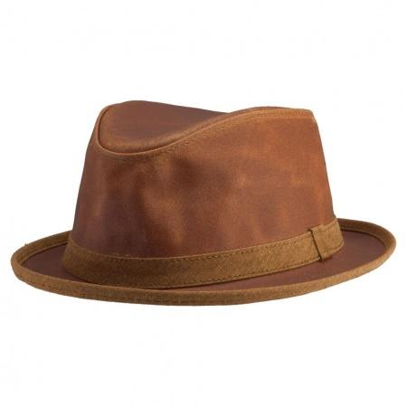 Head 'N Home Soho Crushable Leather Trilby Fedora Hat
