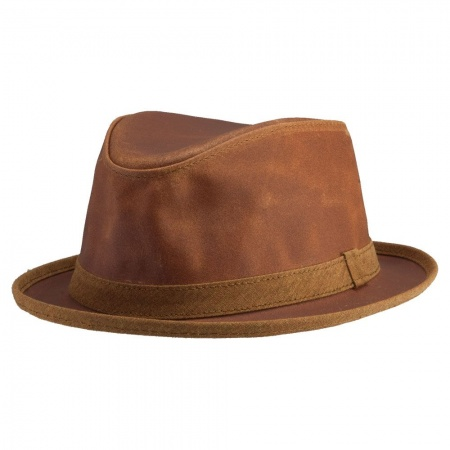 Soho Crushable Leather Trilby Fedora Hat alternate view 13