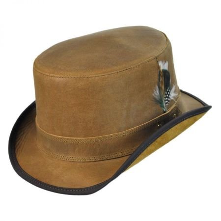 Head 'N Home Stoker Leather Topper Hat