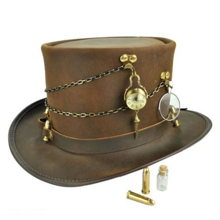 Trinket Ammo Band Leather Top Hat 05b27362b9a