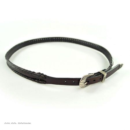 Head 'N Home Whipstitch Buckle Leather Hat Band