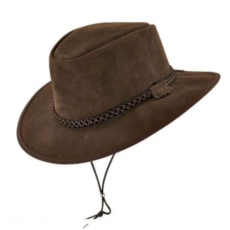 Head 'N Home Zephyr Crushable Suede Outback Hat