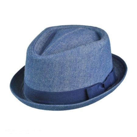 Hi-Dee-Ho Denim Diamond Crown Fedora Hat