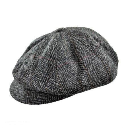 Hills Hats of New Zealand Herringbone Wool Newsboy Cap