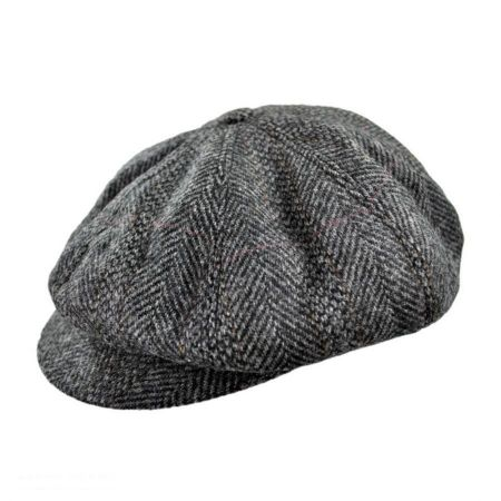 Hills Hats of New Zealand Herringbone Newsboy