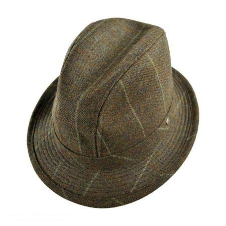 Hills Hats of New Zealand Overcheck Lambswool Walking Fedora Hat